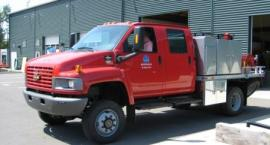 One DNR's newest wildland fire engines recently at the department Tumwater Compound and fire cache