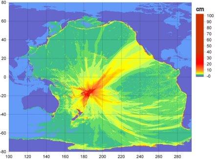 Figure 1. NOAA tsunami propagation map