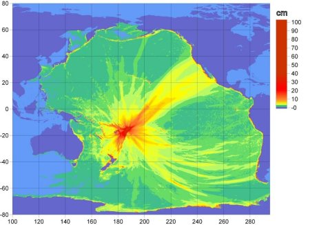 Figure 1. NOAA tsunami propagation map