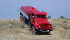 After: The former military surplus vehicle modified into a multi-use, multi-terrain fire engine.