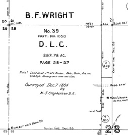 1864 land survey of Puyallup