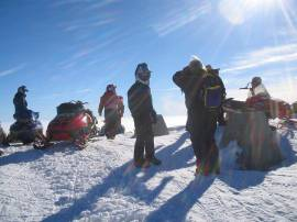 Snowmobilers in the Ahtanum