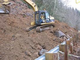 Hwy 112 landslide Jan. 15, 2011