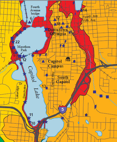 Washington State Map Seattle.Earthquake Caused Soil Liquefaction Risks In Washington State Ear