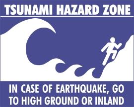 tsunami evacuation route marker