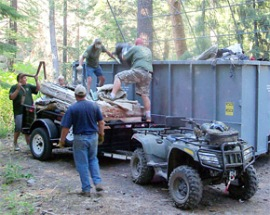Ahtanum State Forest clean-up volunteers 2010