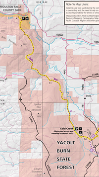 Bells Mountain Trail map