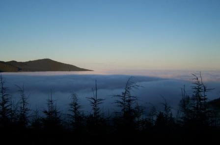 Capitol Peak above inversion layer.