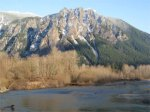 Mount Si in the snow