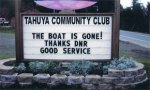 Reader board Tahuya Community Club