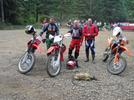Off-road motorcycles get ready to explore DNR trails. Photo: DNR