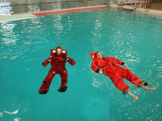 water lifesaving suits demonstrated