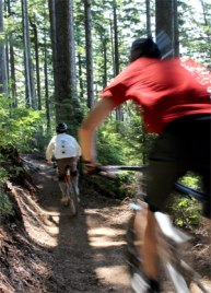 Mountain Bike Rider on East Tiger Mountain