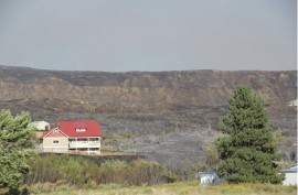 Home saved by Taylor Bridge Wildfire.