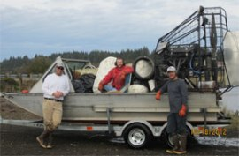 WA DNR Spartina crews with marine debris. Oct. 18, 2012
