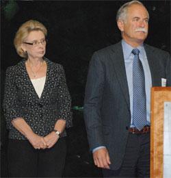 Gov. Chris Gregoire and Commissioner of Public Lands Peter Goldmark at Ocean Acidification Panel press event 11-27-12