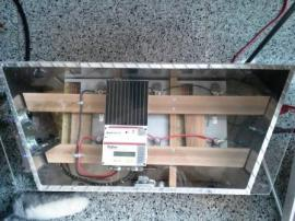 Batteries, wiring, and solar controller