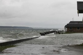 King Tide at Cama Beach, Camano Island, WA. December 17, 2012. Photo: John Pryor