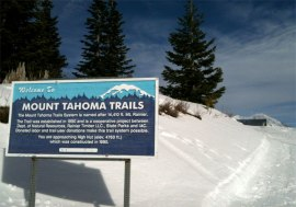 The Mount Tahoma Trail System near Elbe offers nearly 50 miles of cross-country ski and snowshoe trails. Photo: Jason Goldstein, DNR.