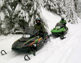 Making plans for the New Year? Put the Narcisse Snowmobile Trails near Colville, WA on the top of your list! Photo: Chuck Lamica, DNR