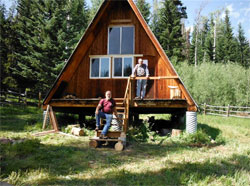 The Hunters Meadow Cabin after renovations.Photo: Ken Orford