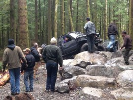 Is this 4x4 trail a draw for the drivers or for the enjoyment of spectating?  From the photo above, what do you think?
