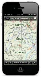 The Capitol State Forest geo-referenced map is ideal for  your smartphone. Photo/ DNR.