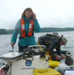 Photo of Helen Berry, DNR nearshore scientist.