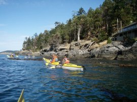 Kayakers take advantage of nice weather to paddle around in puget sound. Photo: DNR.