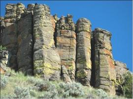 Basalt Columns in the Naneum Ridge to Columbia River Recreation Area. Photo: Jack Powell