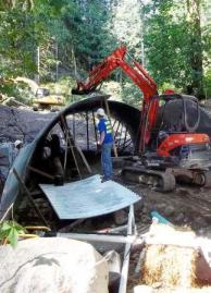 Culvert removal on Miller Creek