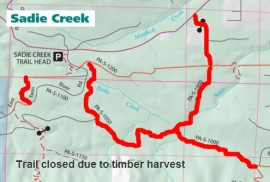Sadie Creek Trail Closure