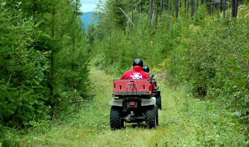 Sherry Creek ATV riders photo given to DNR curtacy of Gary and Ronda Nielsen