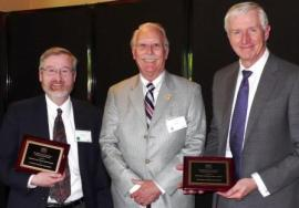 (Left to right) Dave Norman, Washington State Geologist and co-chair, Washington State Seismic Safety Committee; John Parrish, California State Geologist and Chair, Western States Seismic Policy Council Board of Directors; and Robert Ezelle, Director, Washington State Emergency Management Division and co-chair, Washington State Seismic Safety Committee.