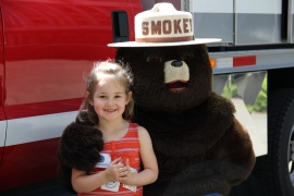 Everyone smiles when Smokey's around PHOTO: Jessica Payne/DNR