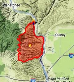Colockum Tarps Fire map