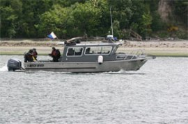 Photo of a geoduck compliance vessel