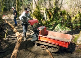 Special thanks to the Skagit Chapter of the Backcountry Horsemen of Washington for all of their volunteer work repairing the Mac Johnson Trail. Photo by: DNR