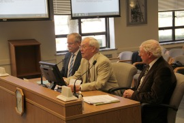 Commissioner Peter Goldmark, Dr. R. James Cook, and Dr. Robert Edmonds present at a senate hearing.  PHOTO: Diana Lofflin