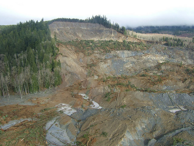 Photo of SR 530 landslide.