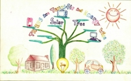 Yvonne Sun, a fifth-grader at Clyde Hill Elementary School in Clyde Hill, was Washington State's winner in 2010 of the National Arbor Day Foundation's Arbor Day Poster Contest. She demonstrates what trees mean to her.
