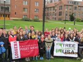 Students from the University of Puget Sound helped make their campus a Tree Campus USA®