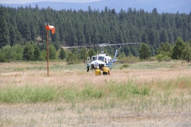 Helitack crews train and prepare for wildfire season by July 4 Holiday. Photo: Janet Pearce