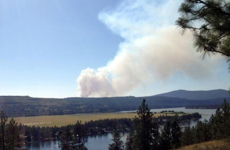 Spokane Lake Campground is closed to help firefighting efforts. Photo by: KXLY 4 News