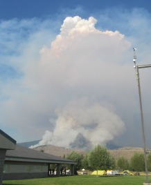 The Carlton Complex fires started on July 14 by lightning from a weather system that moved through the Methow Valley. Photo: Jacob McCann