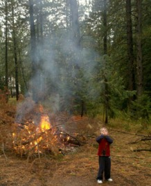 Make sure you know what you're doing before burning any piles. Photo: Carrie McCausland/DNR