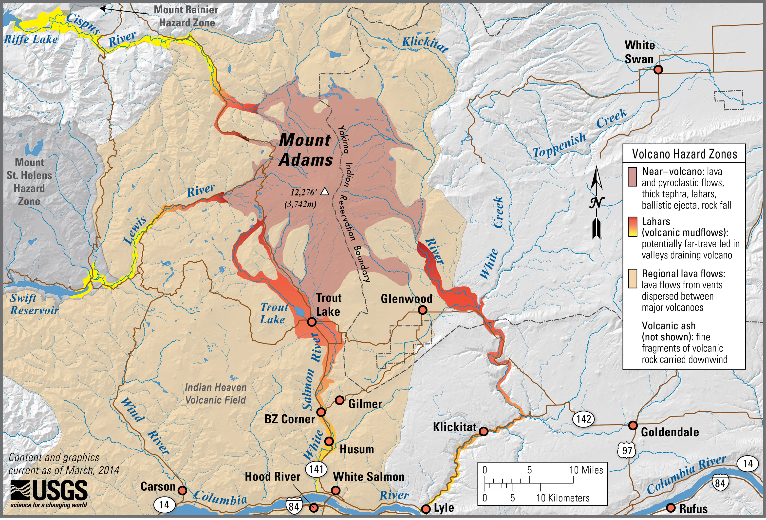 an overview of the hazards of mount adams a volcano in the cascade range Usgs: volcano hazards program - cascades volcano observatory usgs   mount adams has displayed a relatively limited range of eruptive styles   despite their low level of explosivity, eruptions at mount adams can be.