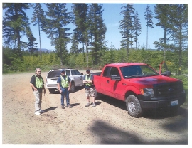 Forest Watch volunteers help encourage safe recreation in the Capitol State Forest. Photo/ DNR.