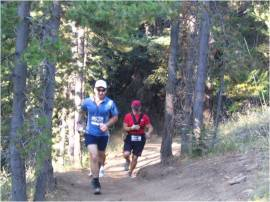 Trail runners enjoy the Grey Rock Trail in the Ahtanum State Forest. Photo/ DNR.