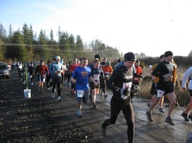 Trail runners begin running at the Rock Candy Trailhead. Photo/ DNR.